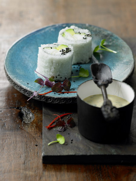 Backfisch Sushi Roll mit Chiliremoulade